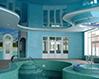 Дизайн натяжного потолока в бассейне