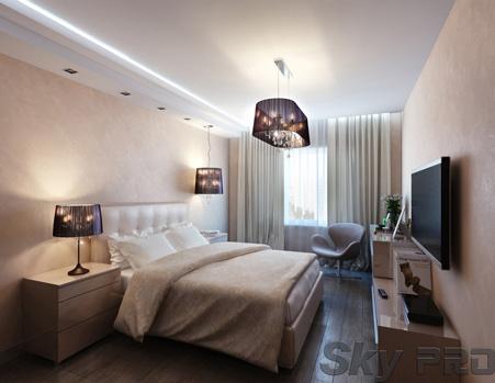 Белый сатиновый натяжной потолок фото